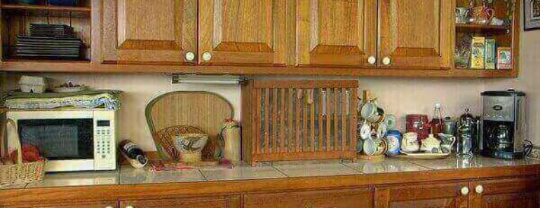 fix worn spots on kitchen cabinets
