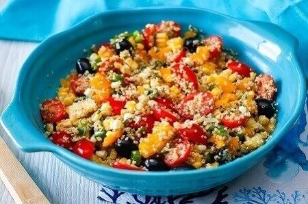 Quinoa with lentils